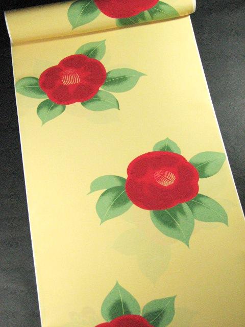 画像1: 長襦袢 椿大黄