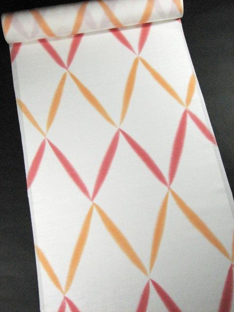 画像1: 長襦袢 菱オレンジ