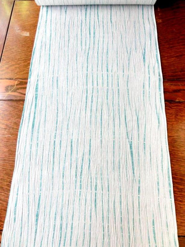 画像1: 立巻絞 炭緑 お仕立上り